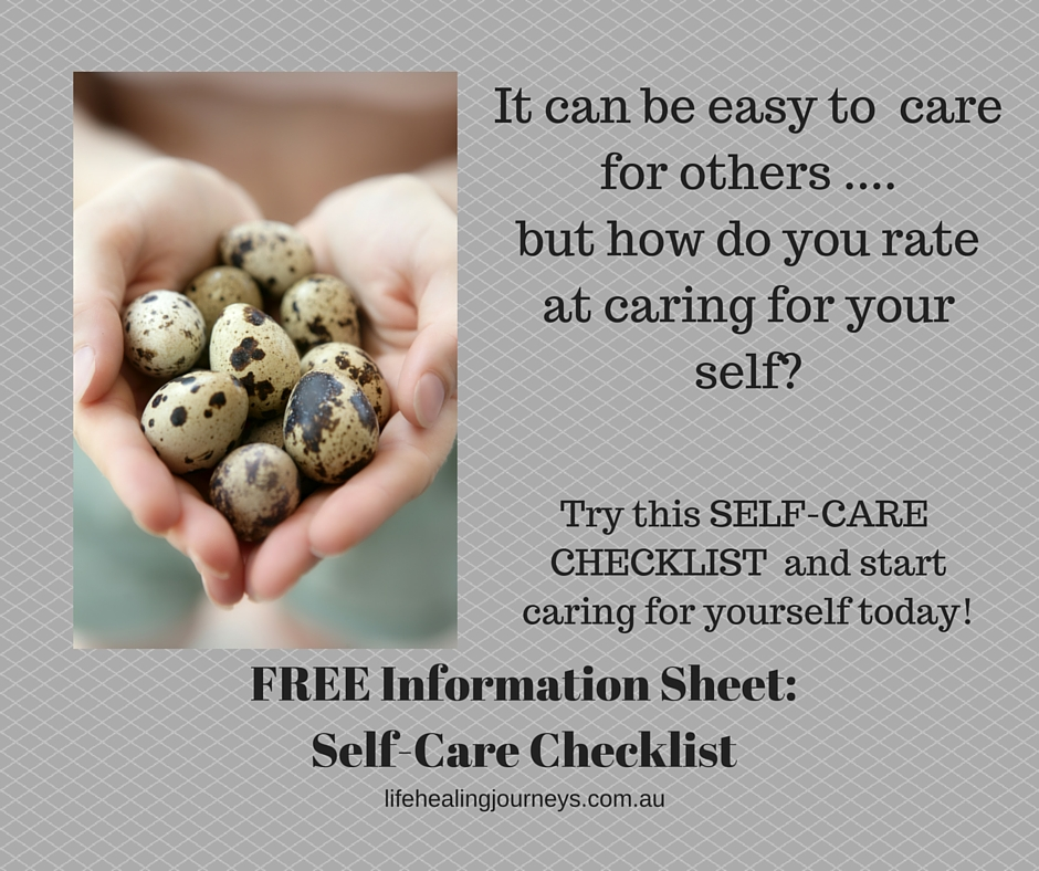 Self care checklist info