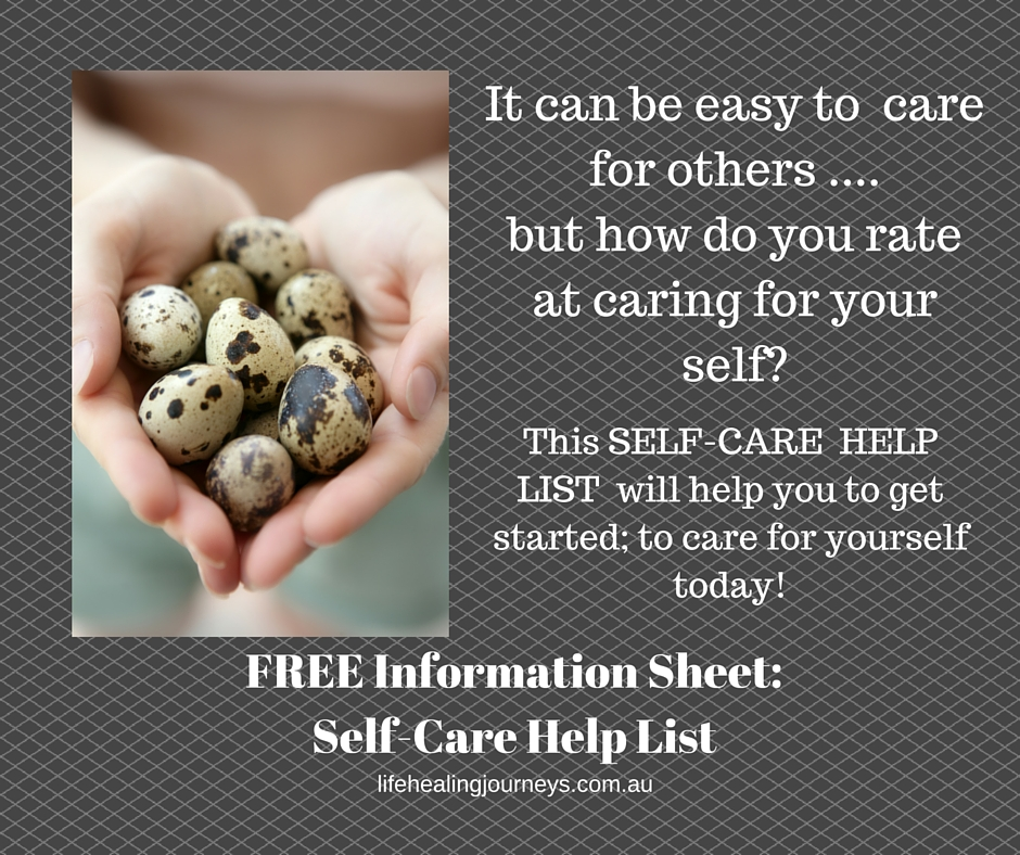 Self care helplist info