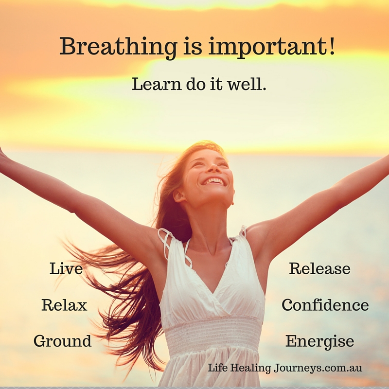 Breathing is important words