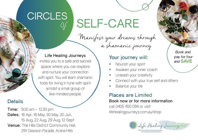 Circles of self care flyer